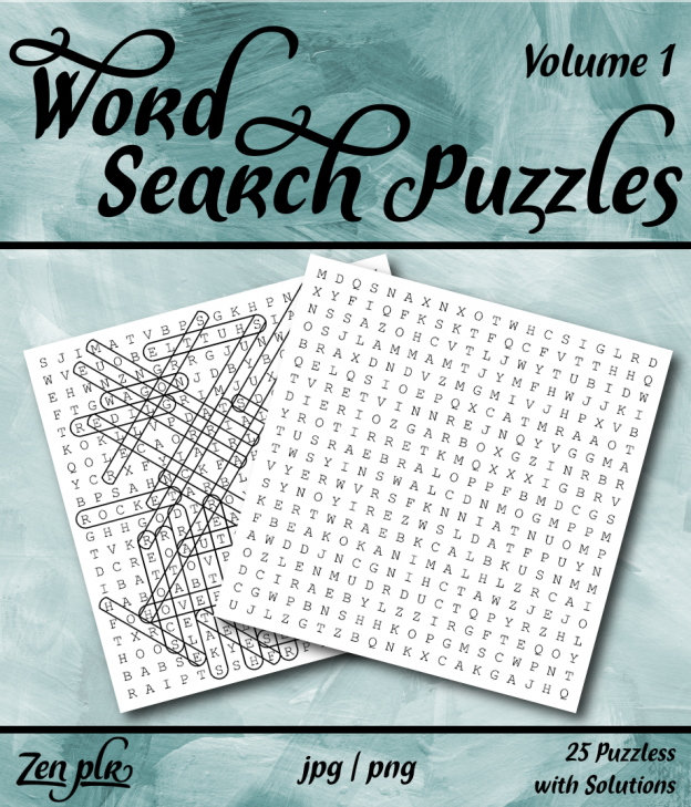 Zen PLR Word Search Puzzles Volume 1 Front Cover
