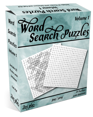 Zen PLR Word Search Puzzles Volume 1 Product Cover