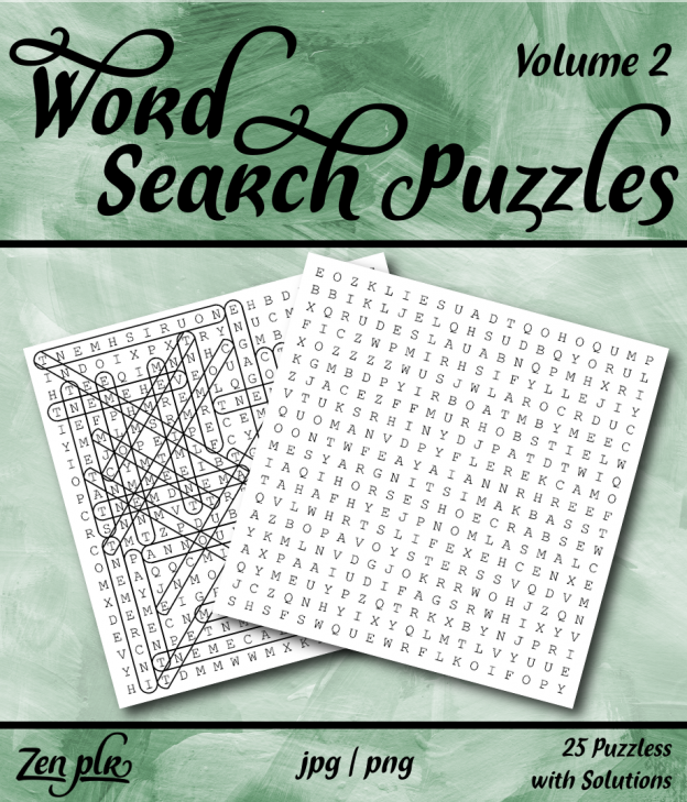 Zen PLR Word Search Puzzles Volume 2 Front Cover