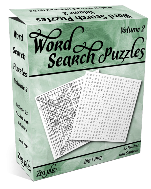 Zen PLR Word Search Puzzles Volume 2 Product Cover