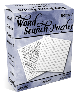 Zen PLR Word Search Puzzles Volume 3 Product Cover