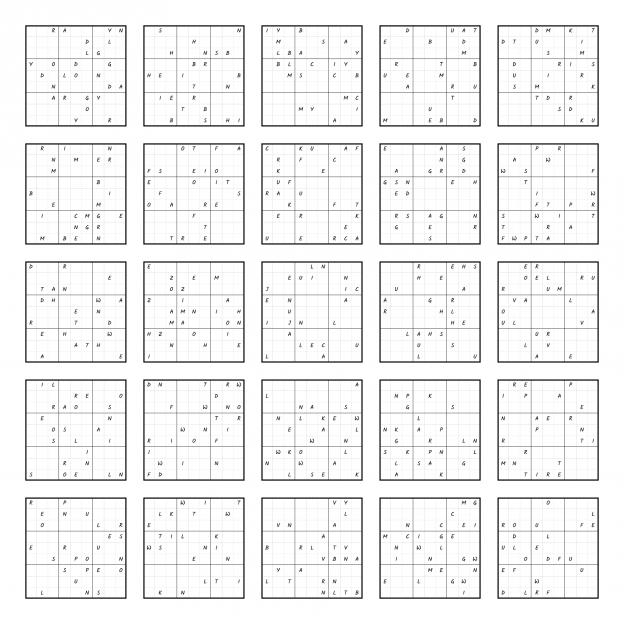 Zen PLR Wordsmith's Wordoku Christmas All Puzzles