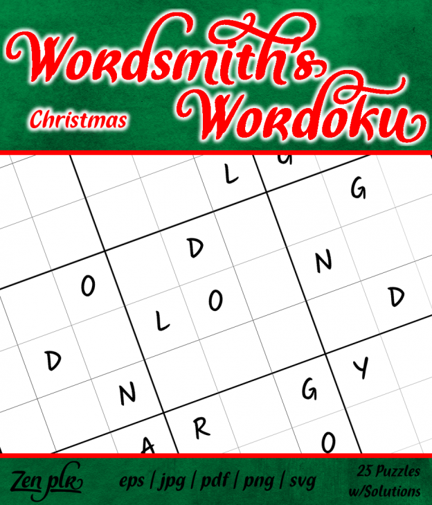 Zen PLR Wordsmith's Wordoku Christmas Front Cover