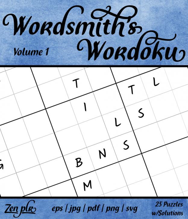 Zen PLR Wordsmith's Wordoku Volume 1 Front Cover
