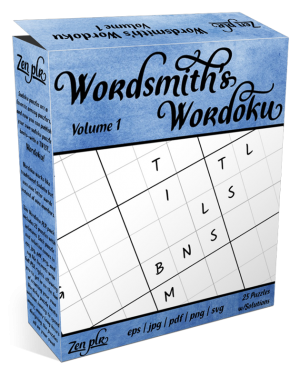 Zen PLR Wordsmith's Wordoku Volume 1 Product Cover