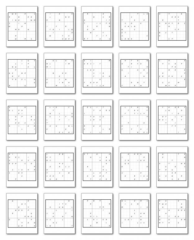 Zen PLR Wordsmith's Wordoku Volume 2 All Puzzles Graphic