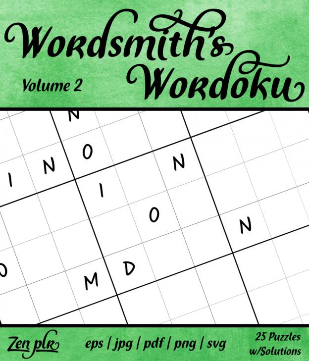 Zen PLR Wordsmith's Wordoku Volume 2 Front Cover