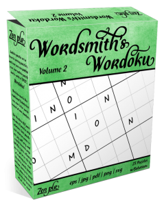 Zen PLR Wordsmith's Wordoku Volume 2 Product Cover