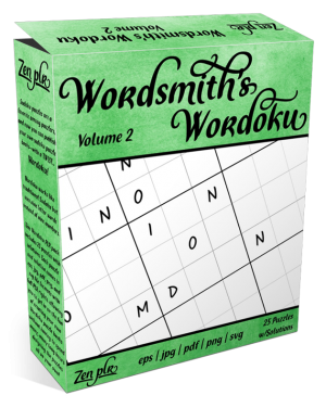 Zen PLR Wordsmith's Wordoku Volume 2 Product Cover