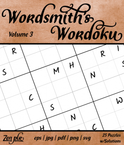 Zen PLR Wordsmith's Wordoku Volume 3 Front Cover