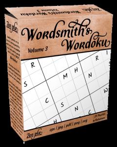 Zen PLR Wordsmith's Wordoku Volume 3 Product Cover
