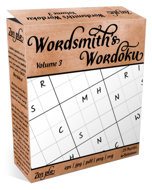 Zen PLR Wordsmith's Wordoku Volume 3 Product Cover