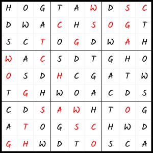Zen PLR Wordsmith's Wordoku Volume 3 Solution Pic