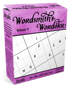 Zen PLR Wordsmith's Wordoku Volume 4 Product Cover