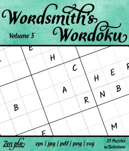 Zen PLR Wordsmith's Wordoku Volume 5 Front Cover