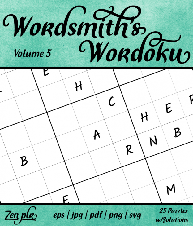 Zen PLR Wordsmith's Wordoku Volume 5 Front Cover