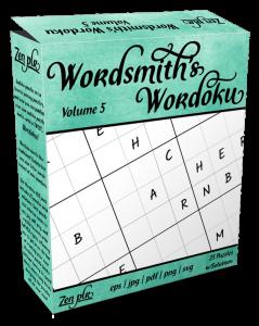 Zen PLR Wordsmith's Wordoku Volume 5 Product Cover