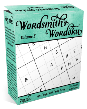 Zen PLR Wordsmith's Wordoku Volume 5 Product Cover