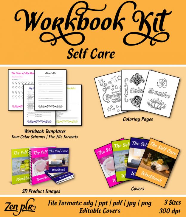 Zen PLR Workbook Kit Self Care Front Cover