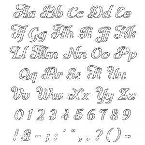 Zen PLR DFY Coloring Designs Volume 01 Alphabet Numbers Punctuation