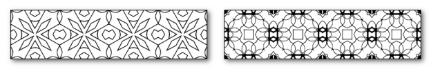 Zen PLR DFY Coloring Designs Volume 01 Horizontal Borders Sample