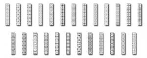 Zen PLR DFY Coloring Designs Volume 01 Vertical Borders All