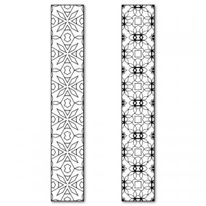Zen PLR DFY Coloring Designs Volume 01 Vertical Borders Sample