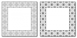 Zen PLR DFY Coloring Designs Volume 01 Frames Sample