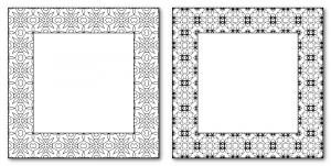 Zen PLR DFY Coloring Designs Volume 01 Frames Sample