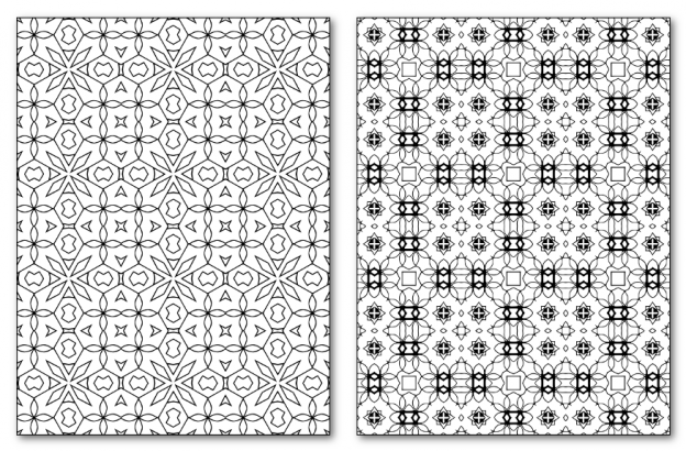Zen PLR DFY Coloring Designs Volume 01 Rectangle Patterns Sample