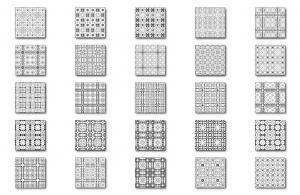Zen PLR DFY Coloring Designs Volume 01 Square Patterns All