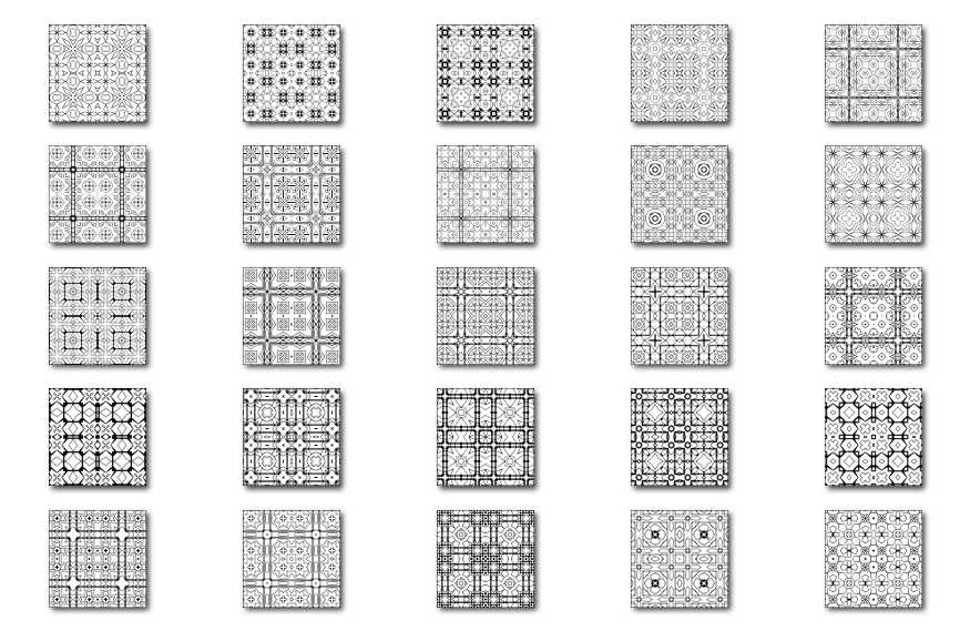 25 Square Patterns