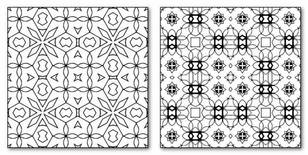 Zen PLR DFY Coloring Designs Volume 01 Square Patterns Sample